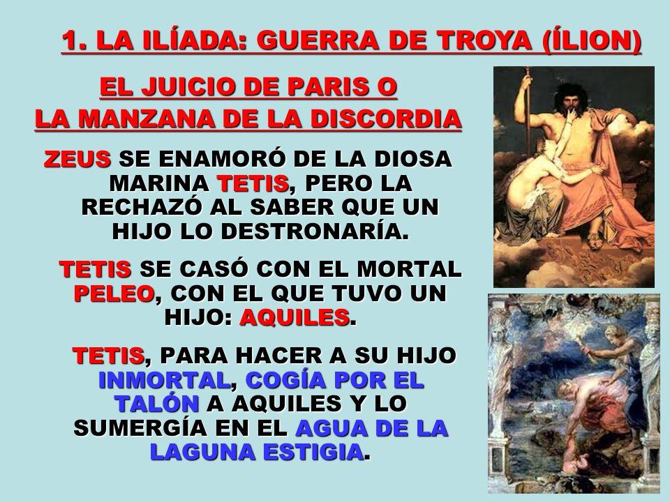 1. LA ILÍADA: GUERRA DE TROYA (ÍLION)