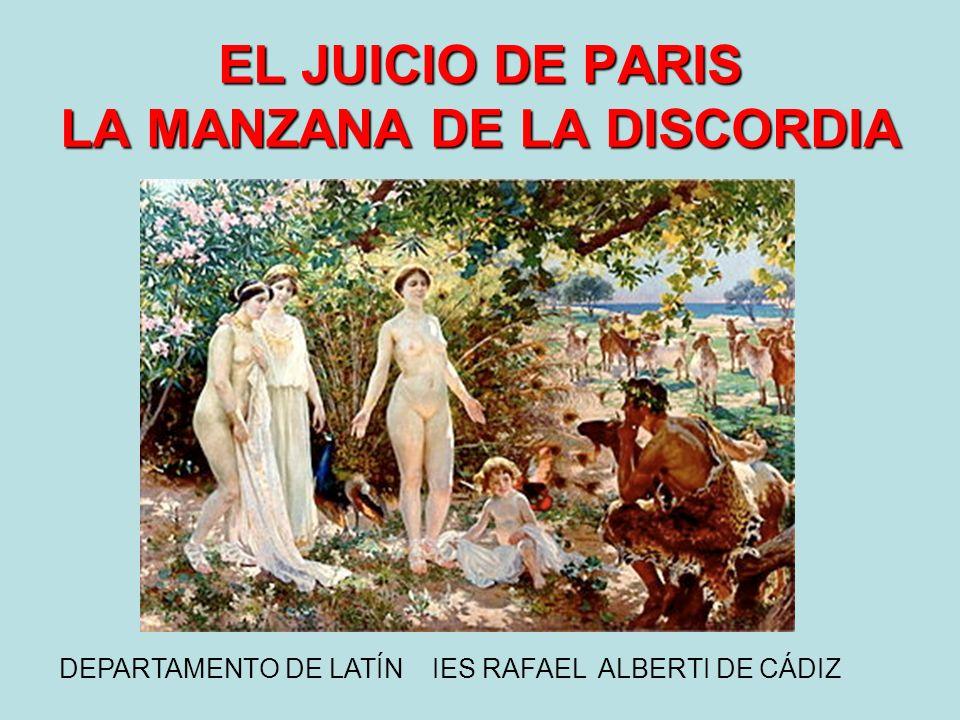EL JUICIO DE PARIS LA MANZANA DE LA DISCORDIA