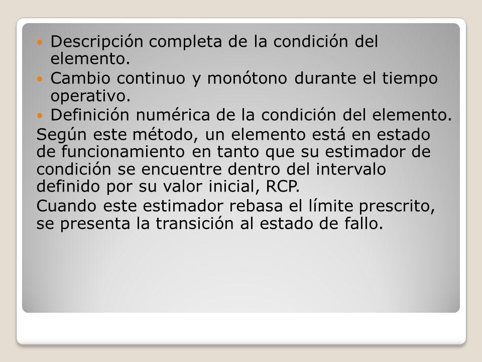 Descripción completa de la condición del elemento.