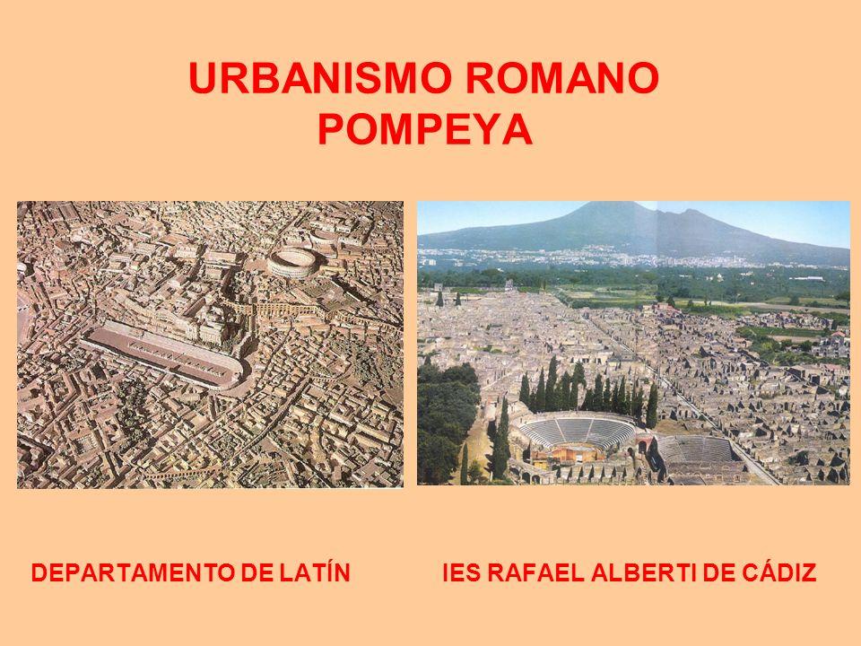 URBANISMO ROMANO POMPEYA