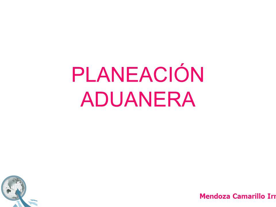 PLANEACIÓN ADUANERA Mendoza Camarillo Irma Berenice
