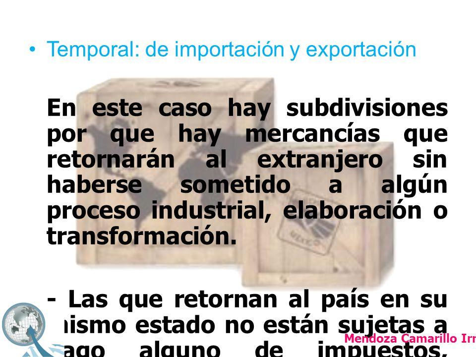 Temporal: de importación y exportación