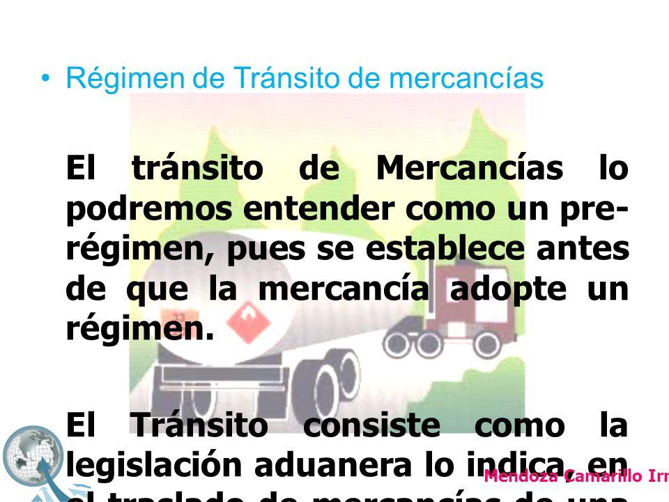 Régimen de Tránsito de mercancías