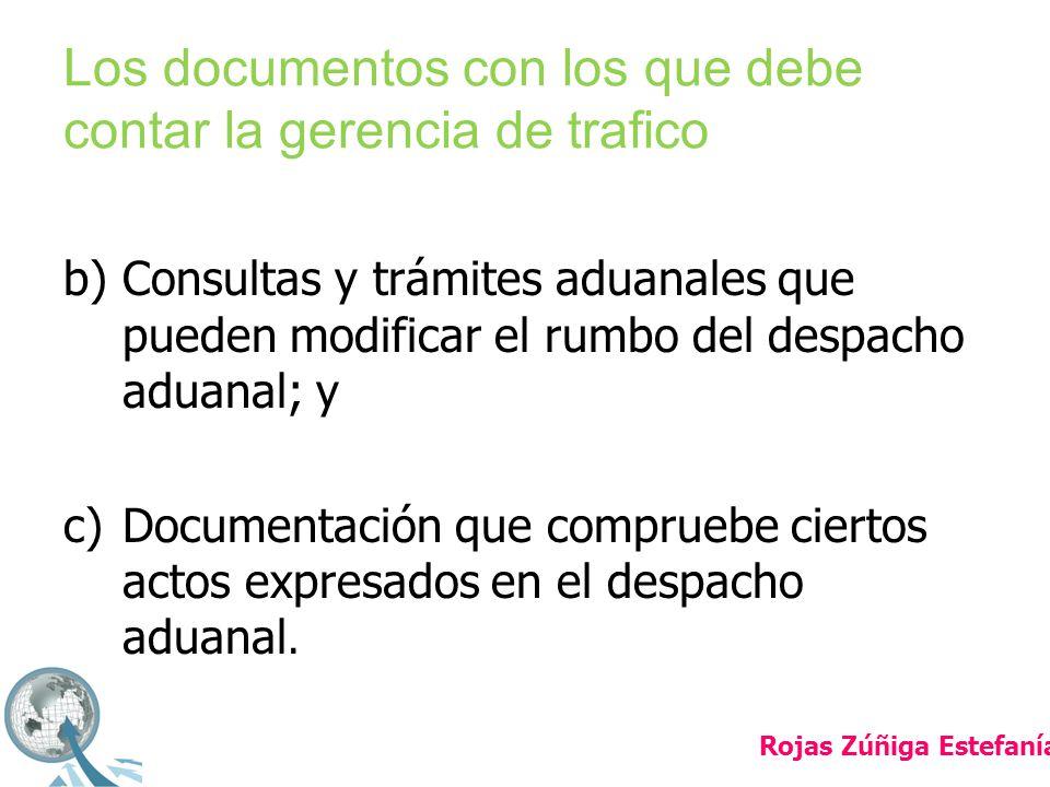 Los documentos con los que debe contar la gerencia de trafico