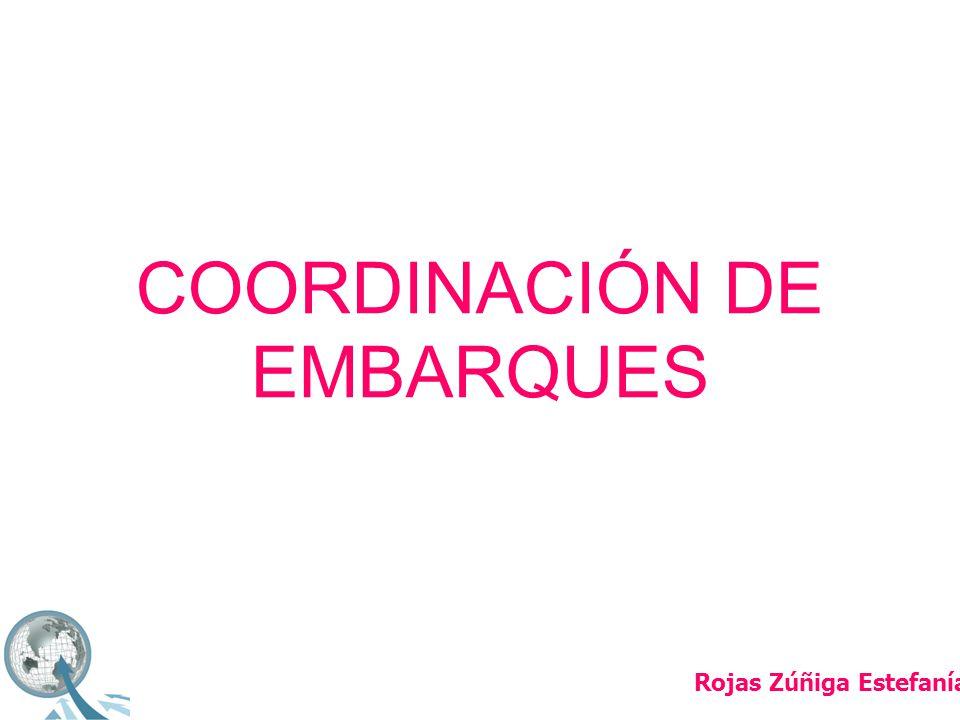 COORDINACIÓN DE EMBARQUES