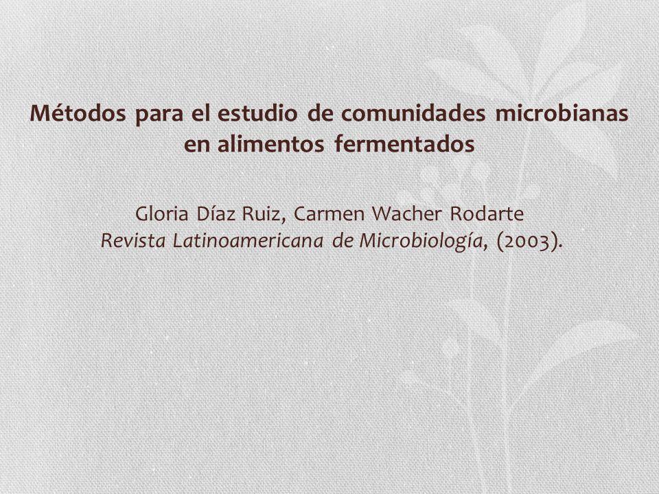 Métodos para el estudio de comunidades microbianas en alimentos fermentados