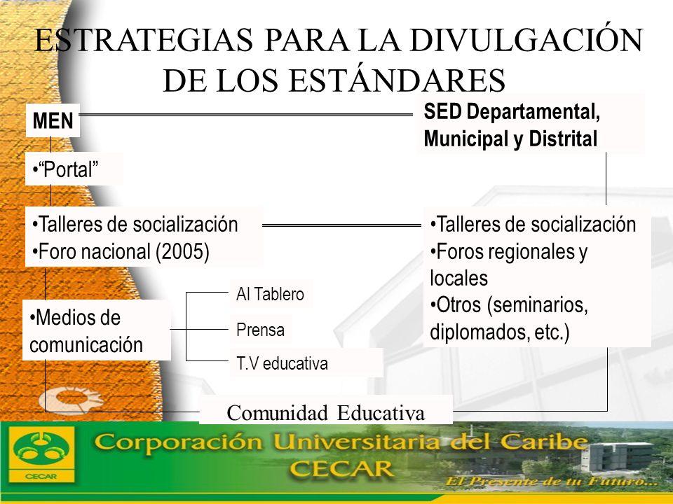 ESTRATEGIAS PARA LA DIVULGACIÓN DE LOS ESTÁNDARES