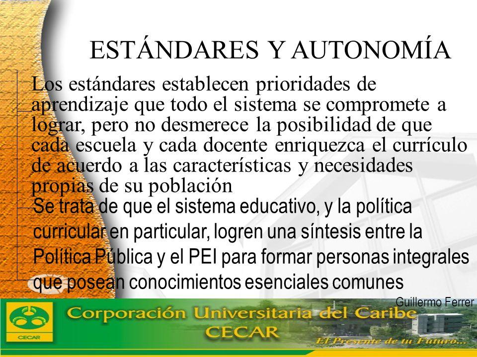 ESTÁNDARES Y AUTONOMÍA
