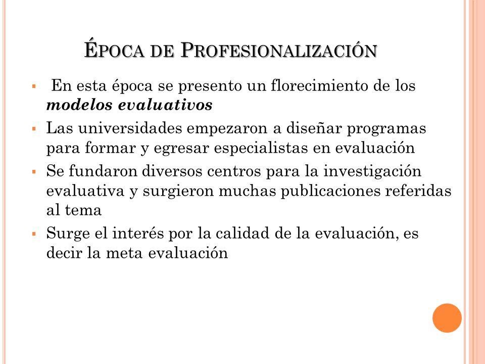 Época de Profesionalización