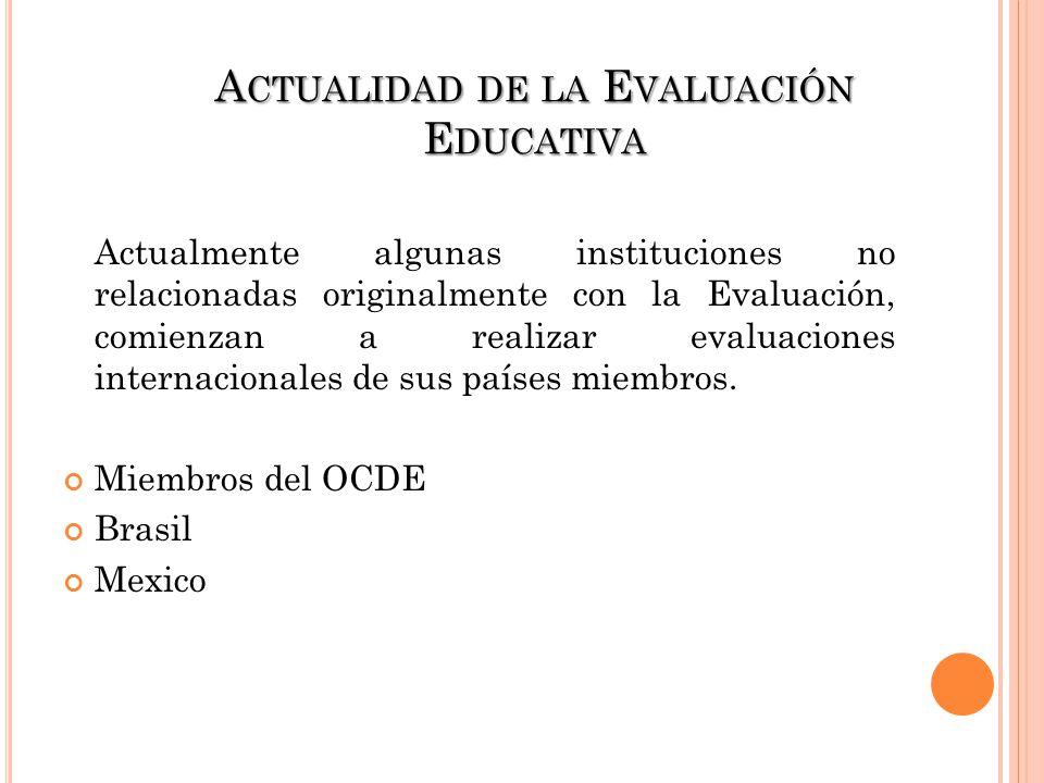 Actualidad de la Evaluación Educativa