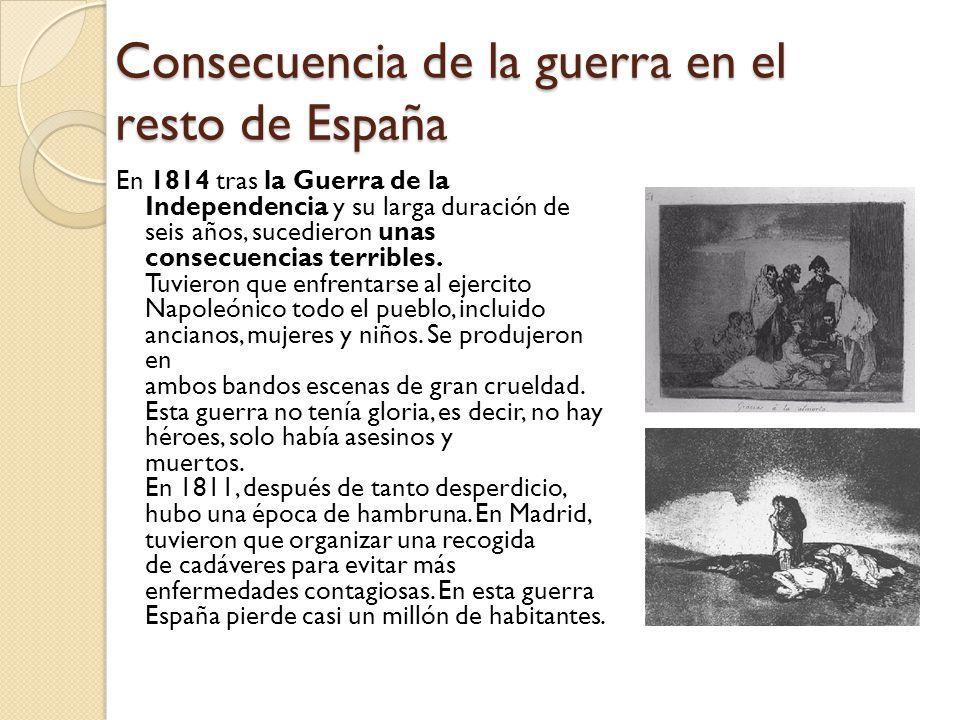 Consecuencia de la guerra en el resto de España