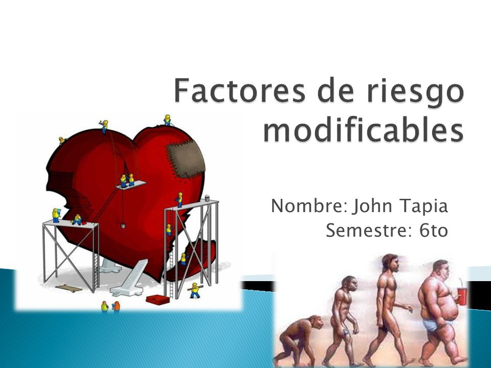 Factores de riesgo modificables