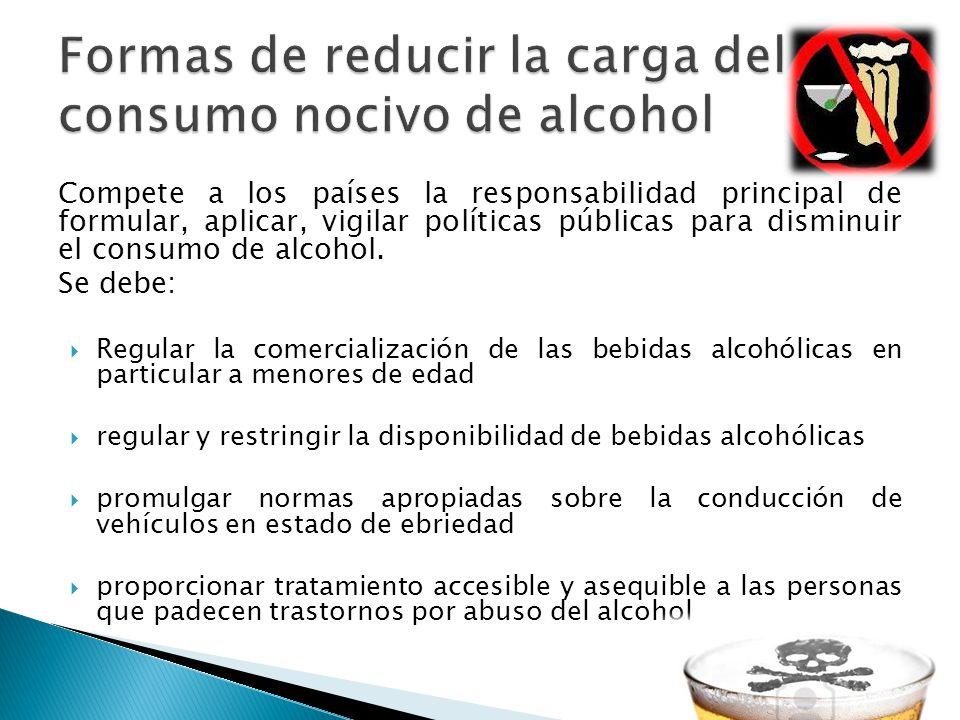 Formas de reducir la carga del consumo nocivo de alcohol