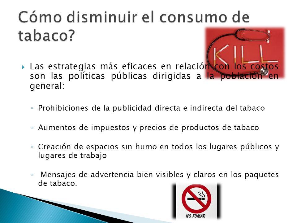 Cómo disminuir el consumo de tabaco
