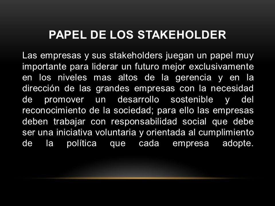 Papel de los stakeholder