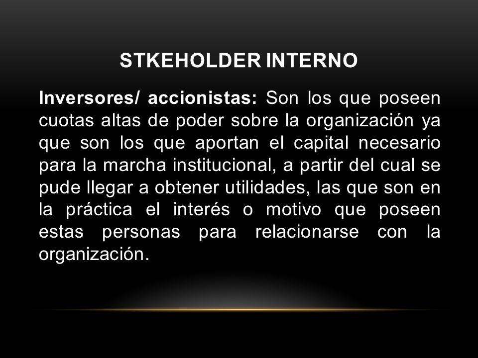 STKEHOLDER INTERNO
