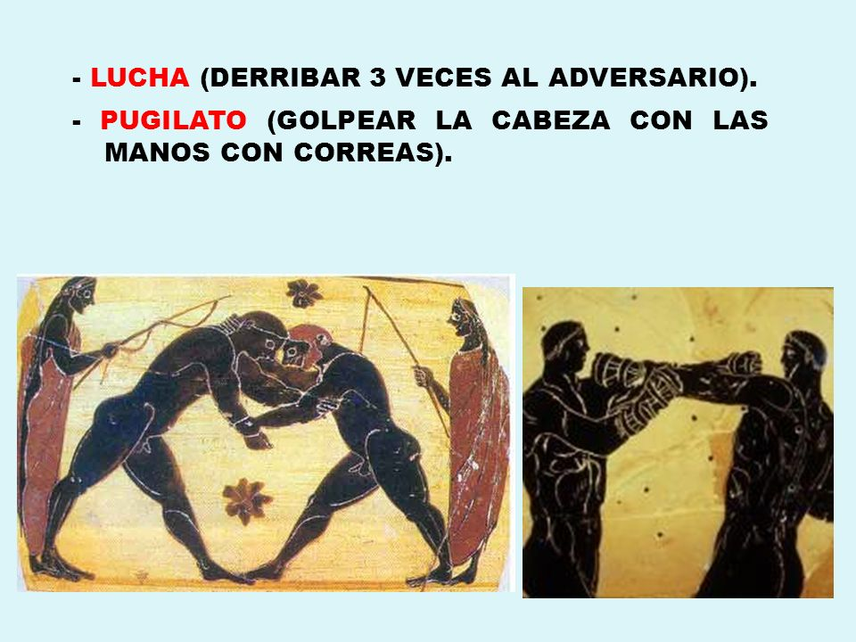 - LUCHA (DERRIBAR 3 VECES AL ADVERSARIO).