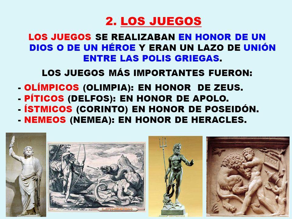 LOS JUEGOS MÁS IMPORTANTES FUERON: