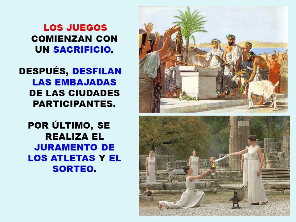 LOS JUEGOS COMIENZAN CON UN SACRIFICIO.