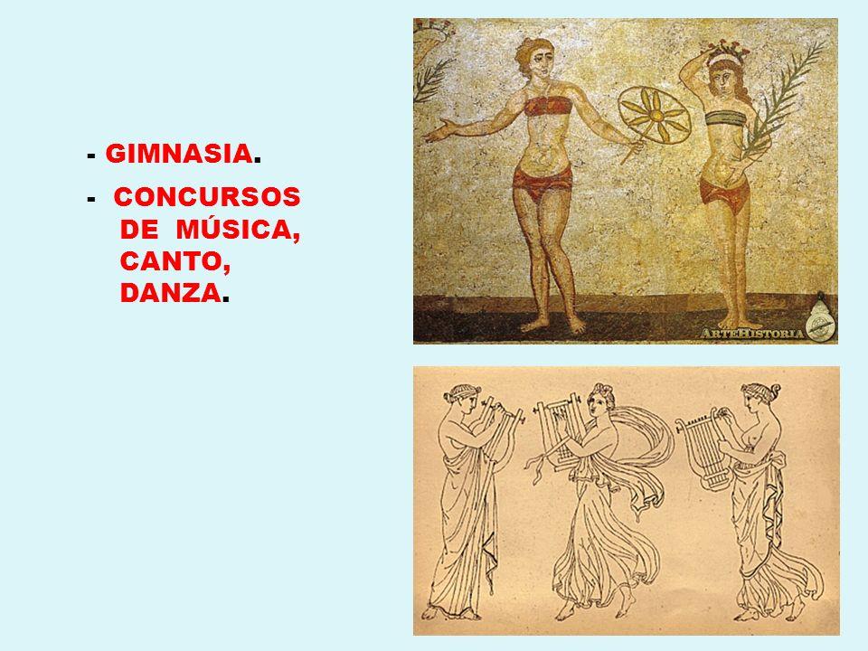 - CONCURSOS DE MÚSICA, CANTO, DANZA.