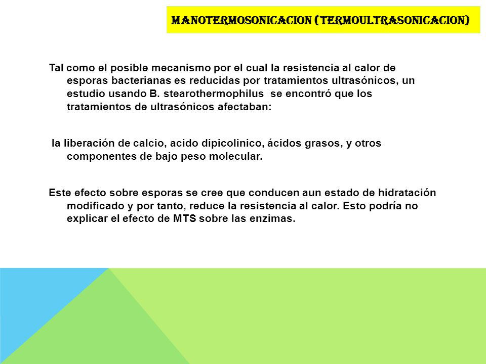 Manotermosonicacion (termoultrasonicacion)