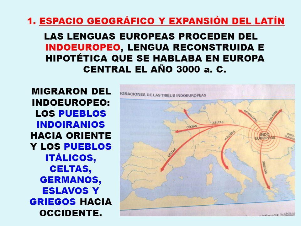1. ESPACIO GEOGRÁFICO Y EXPANSIÓN DEL LATÍN