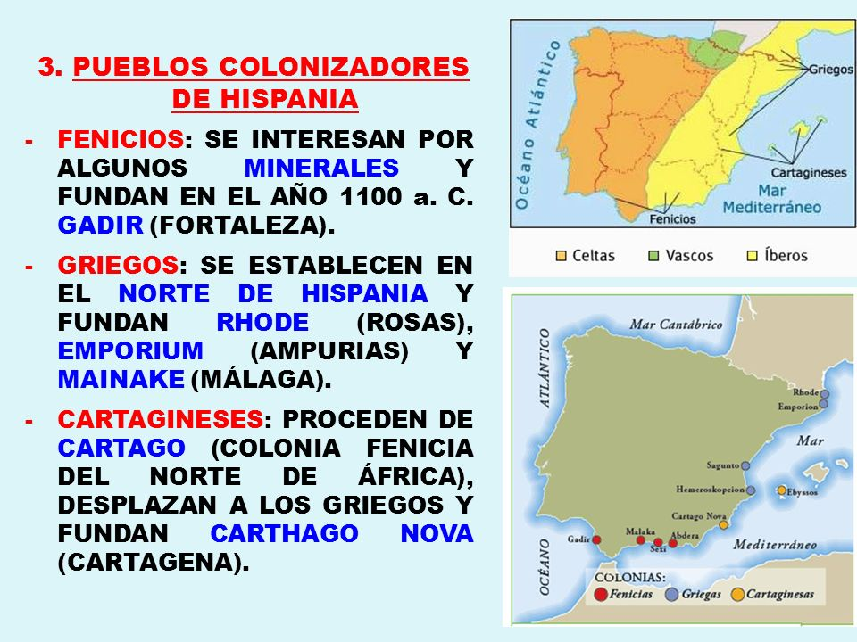 3. PUEBLOS COLONIZADORES DE HISPANIA