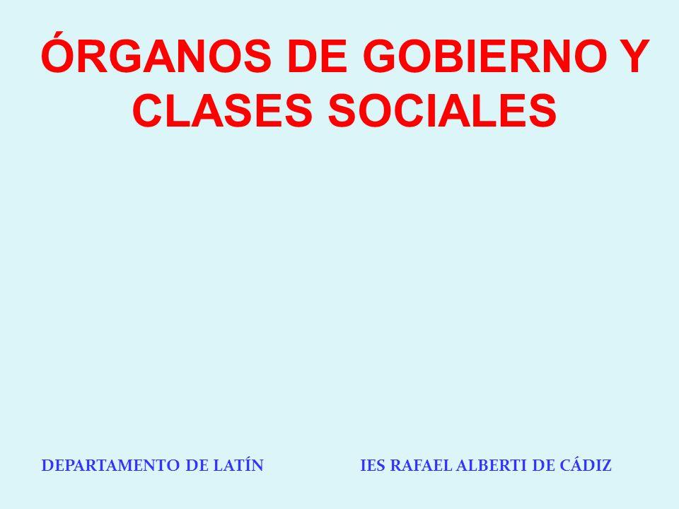 ÓRGANOS DE GOBIERNO Y CLASES SOCIALES
