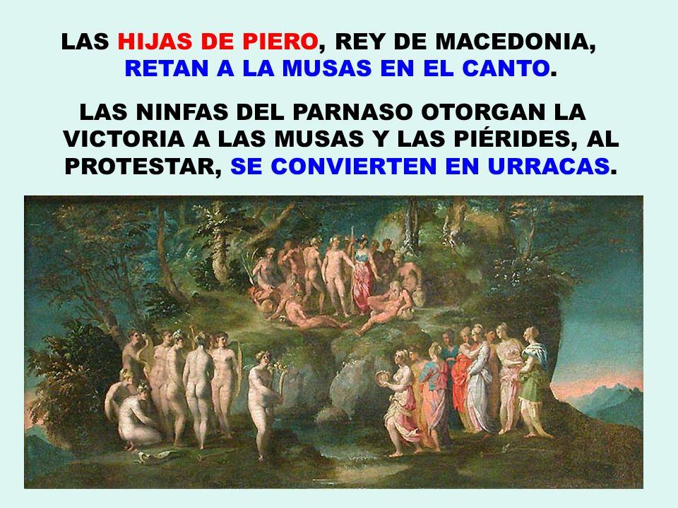 LAS HIJAS DE PIERO, REY DE MACEDONIA, RETAN A LA MUSAS EN EL CANTO.