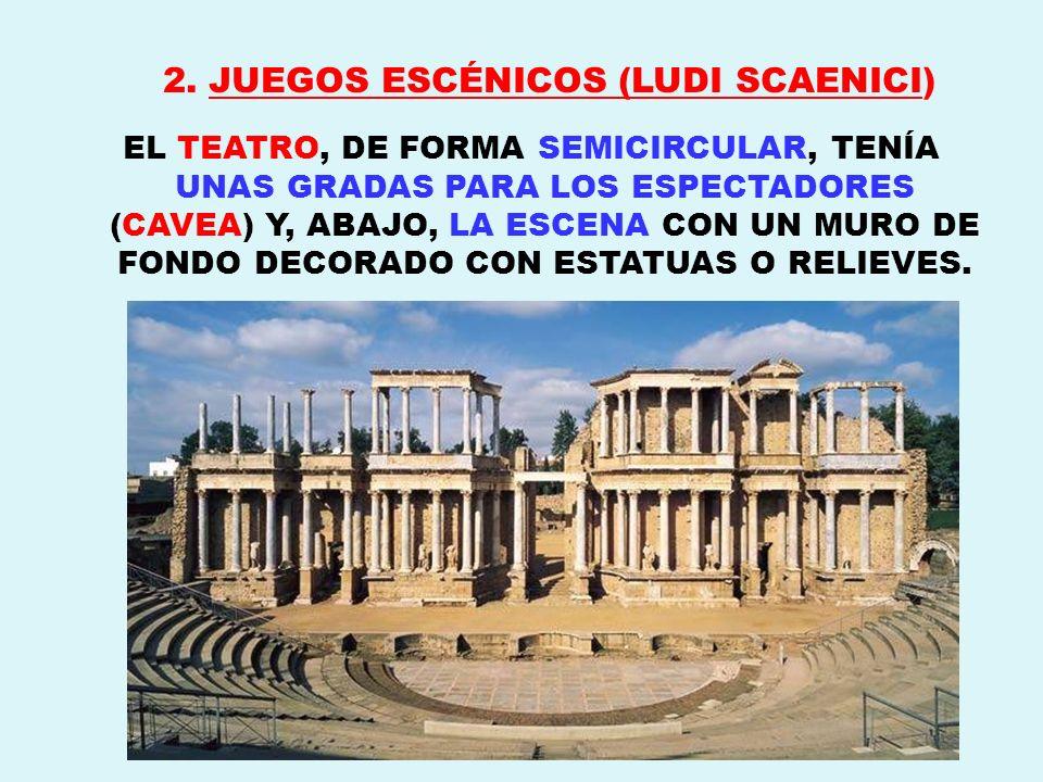 2. JUEGOS ESCÉNICOS (LUDI SCAENICI)