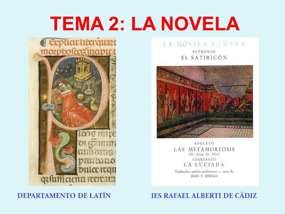TEMA 2: LA NOVELA DEPARTAMENTO DE LATÍN IES RAFAEL ALBERTI DE CÁDIZ