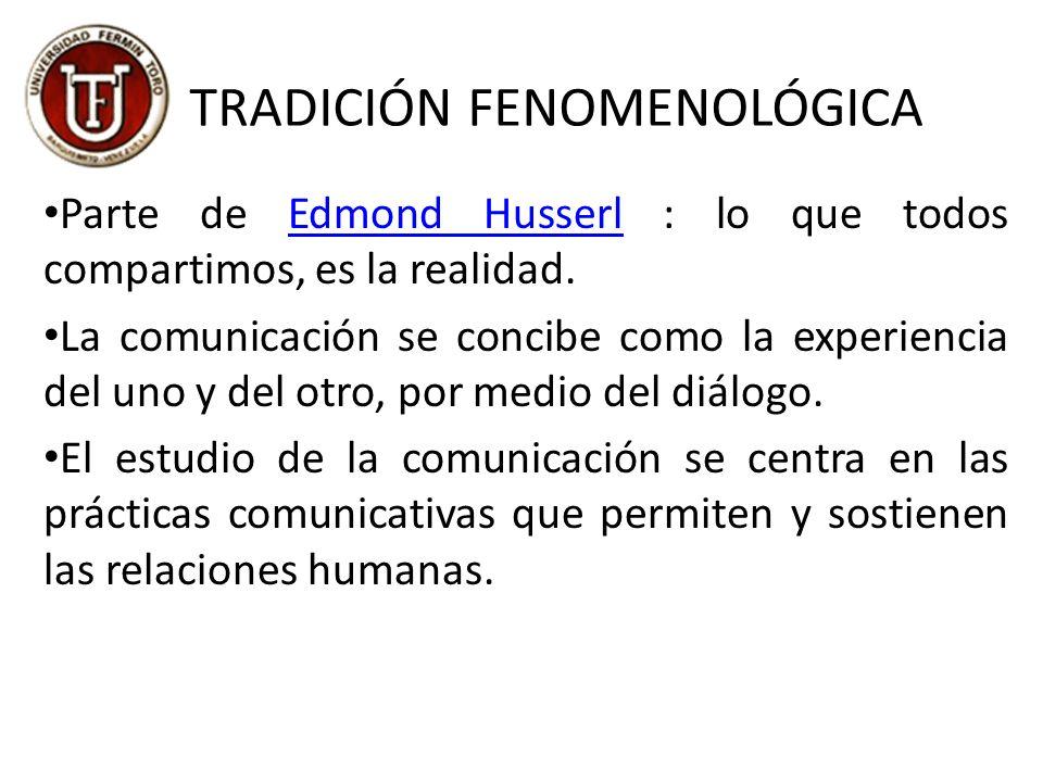 TRADICIÓN FENOMENOLÓGICA