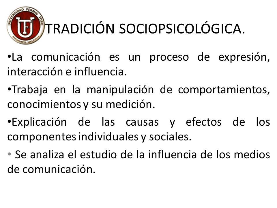 TRADICIÓN SOCIOPSICOLÓGICA.