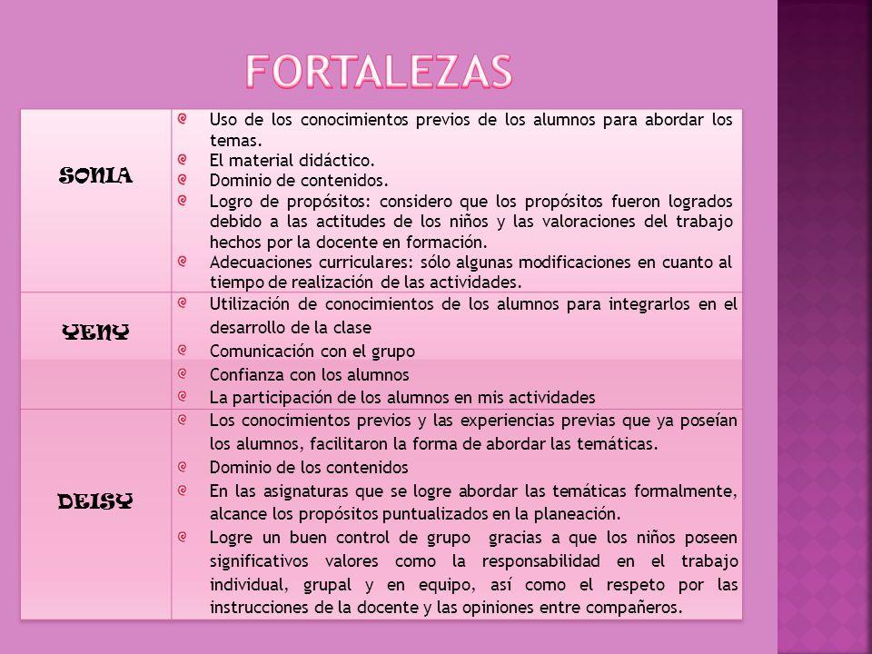 FORTALEZAS SONIA YENY DEISY