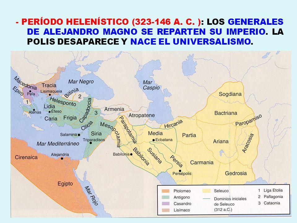 - PERÍODO HELENÍSTICO (323-146 A. C