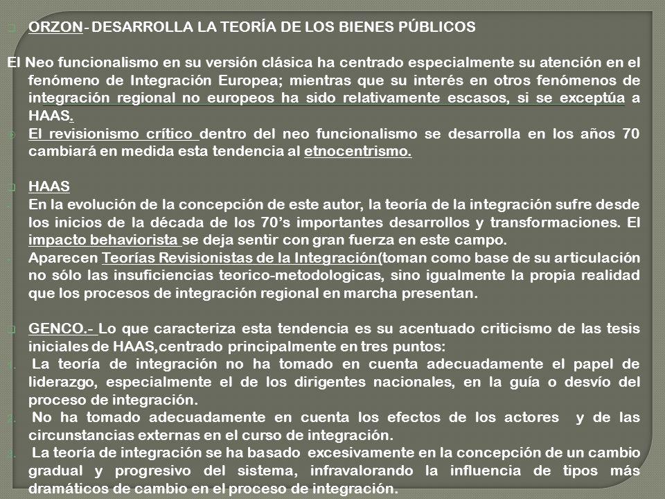 ORZON- DESARROLLA LA TEORÍA DE LOS BIENES PÚBLICOS