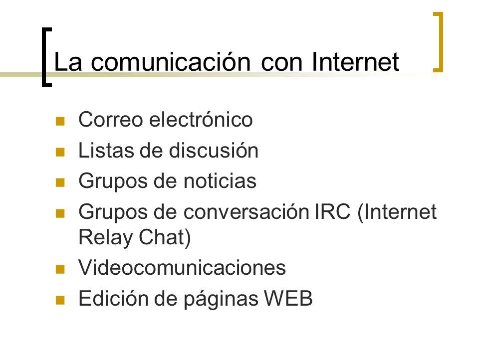 La comunicación con Internet
