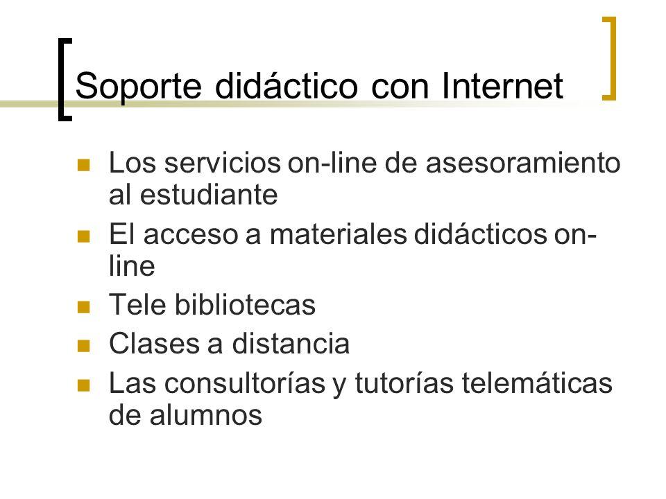 Soporte didáctico con Internet