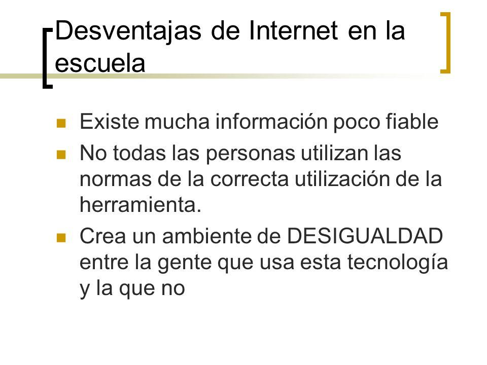 Desventajas de Internet en la escuela