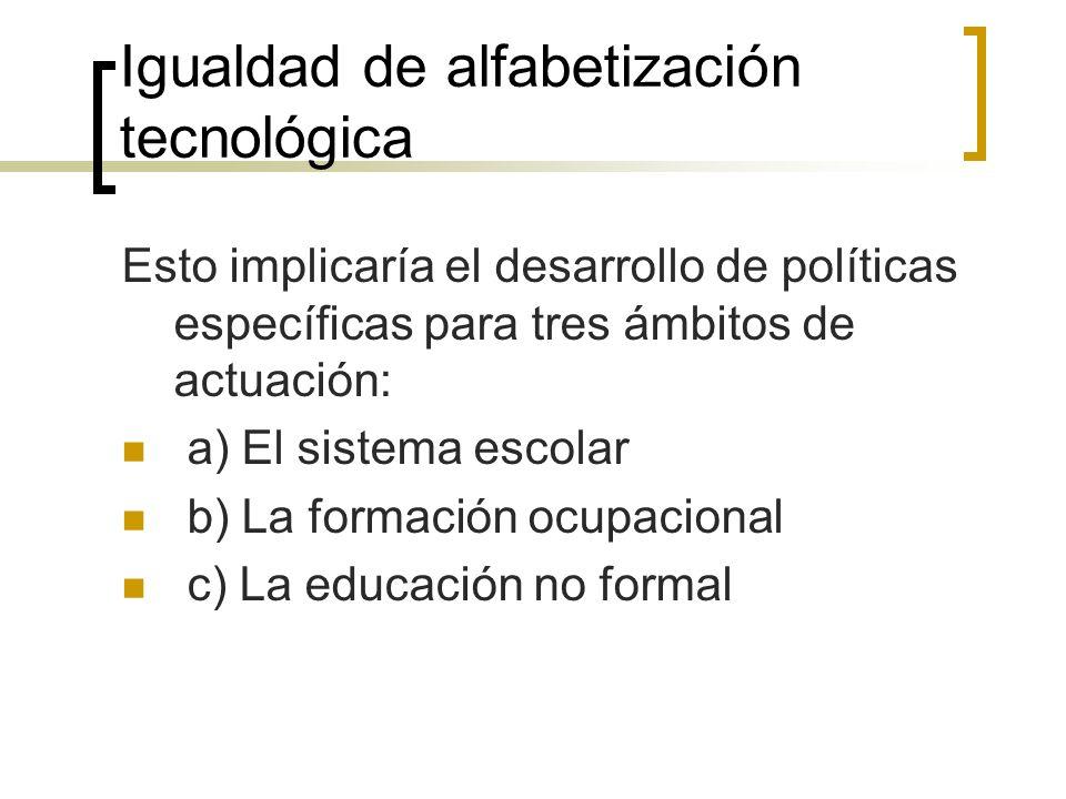 Igualdad de alfabetización tecnológica
