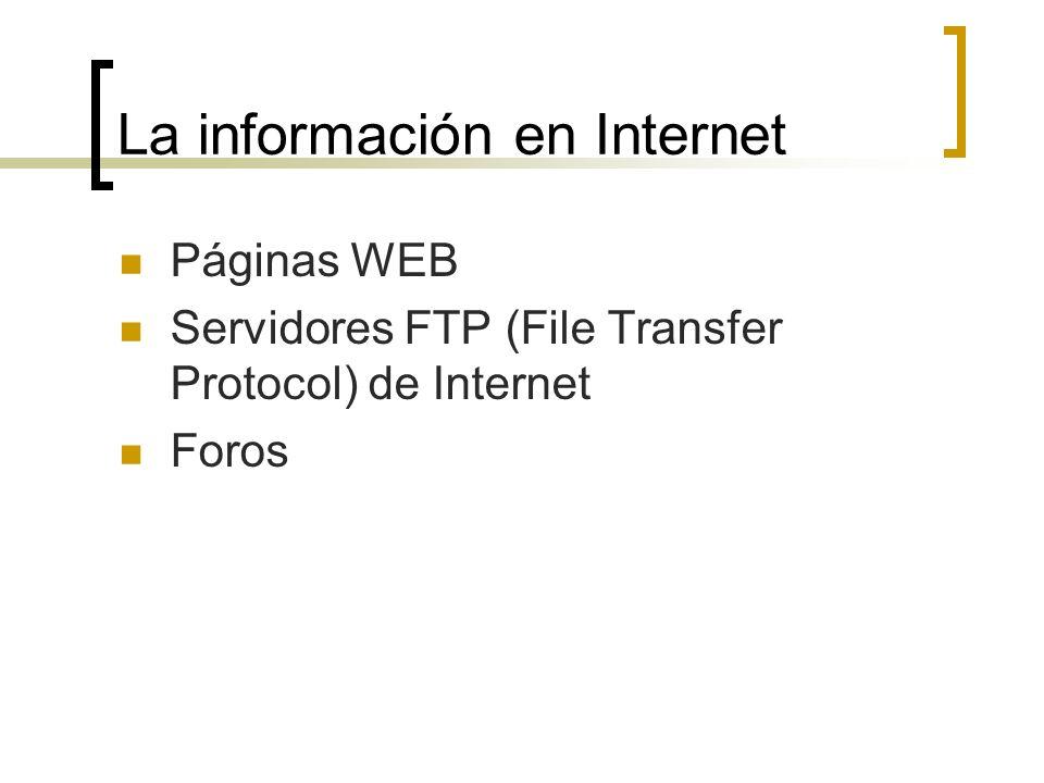La información en Internet