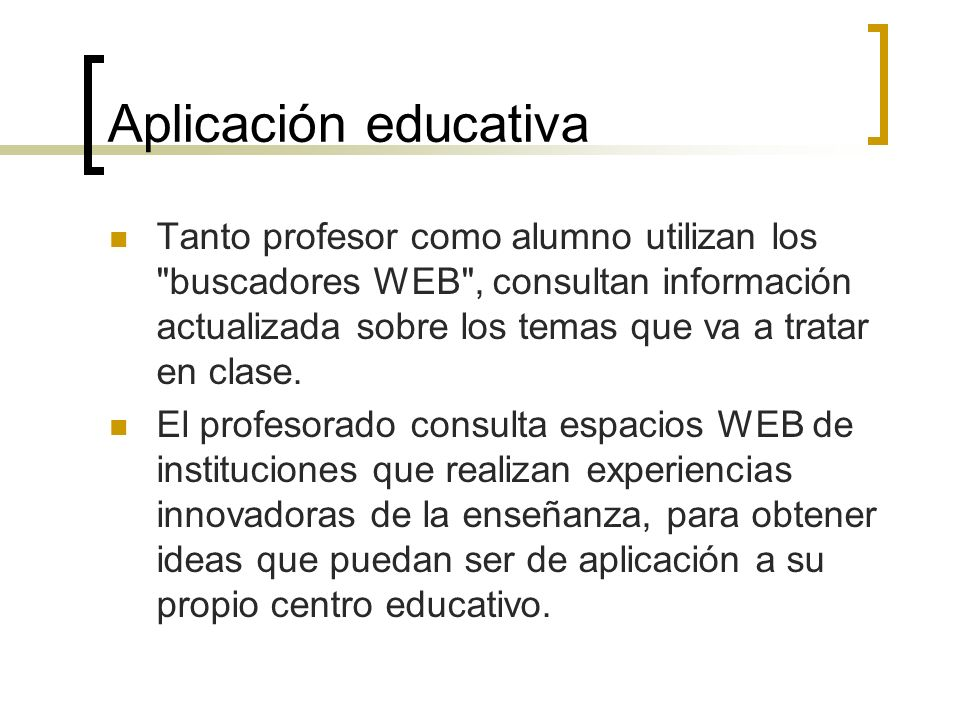 Aplicación educativa
