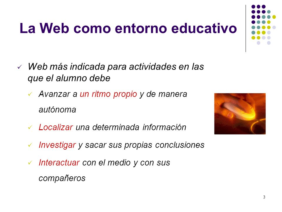 La Web como entorno educativo