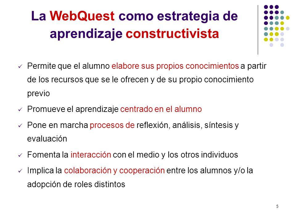 La WebQuest como estrategia de aprendizaje constructivista