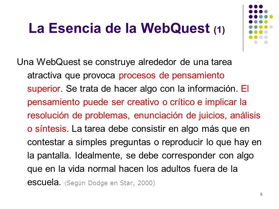 La Esencia de la WebQuest (1)