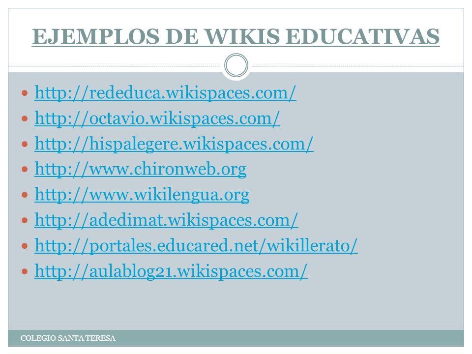 EJEMPLOS DE WIKIS EDUCATIVAS