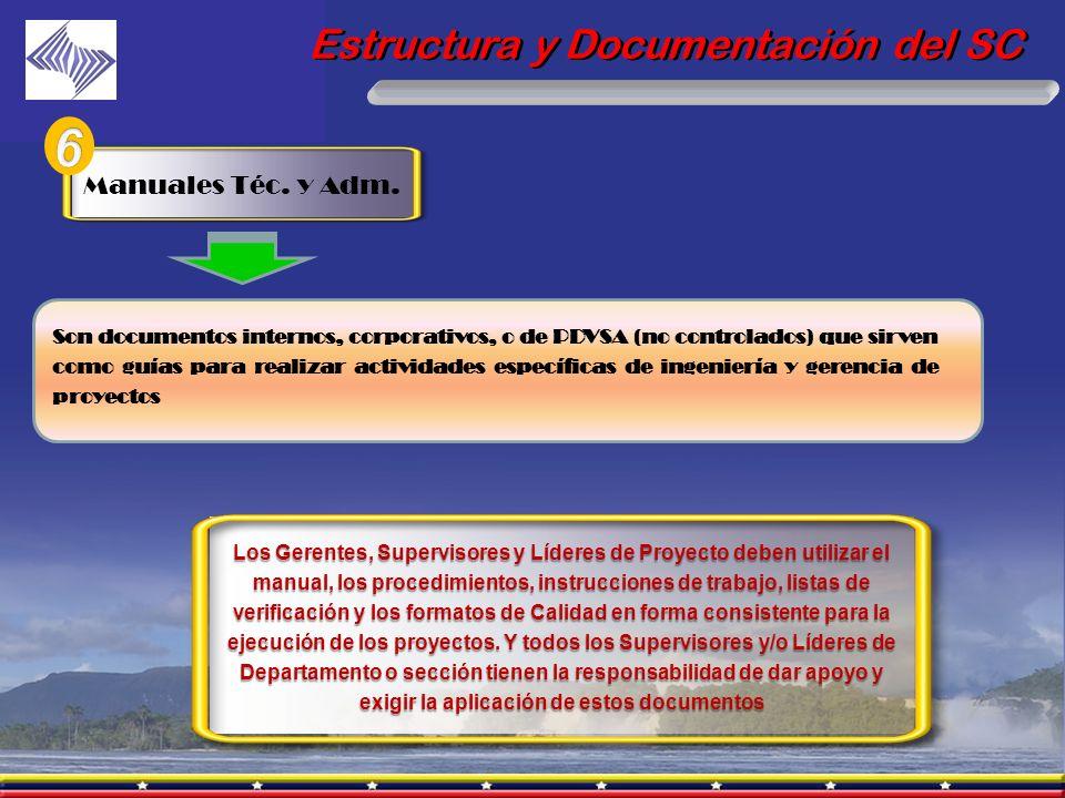 6 Estructura y Documentación del SC Manuales Téc. y Adm.