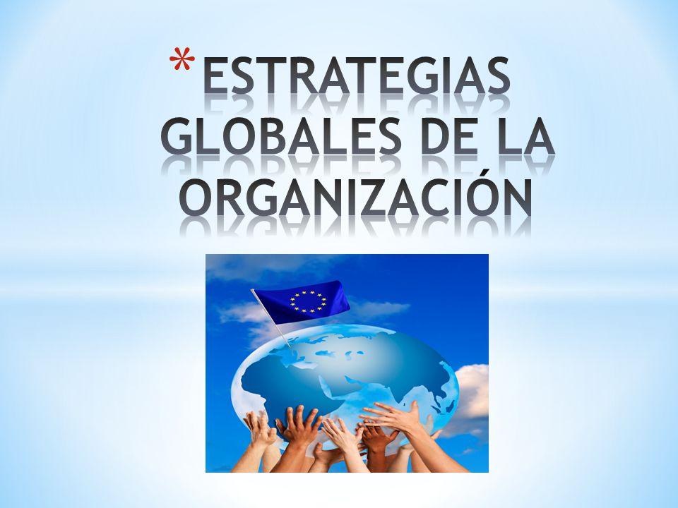 ESTRATEGIAS GLOBALES DE LA ORGANIZACIÓN