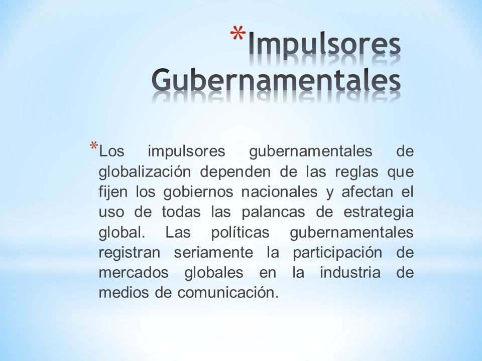 Impulsores Gubernamentales