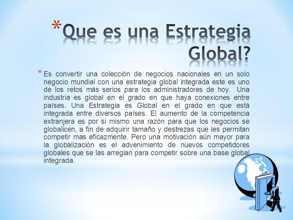 Que es una Estrategia Global